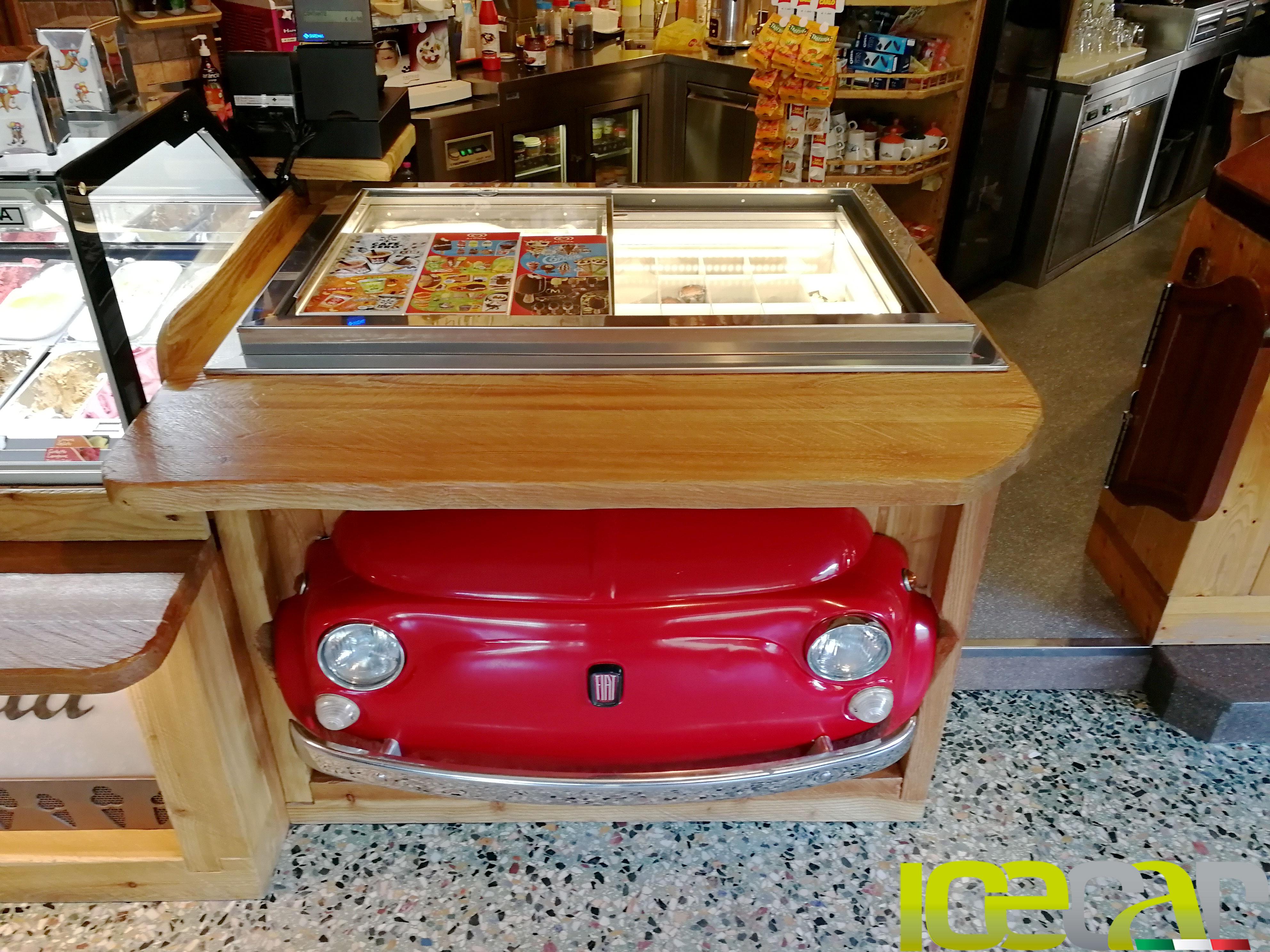 Gelato Pozzetto su misura Fiat 500