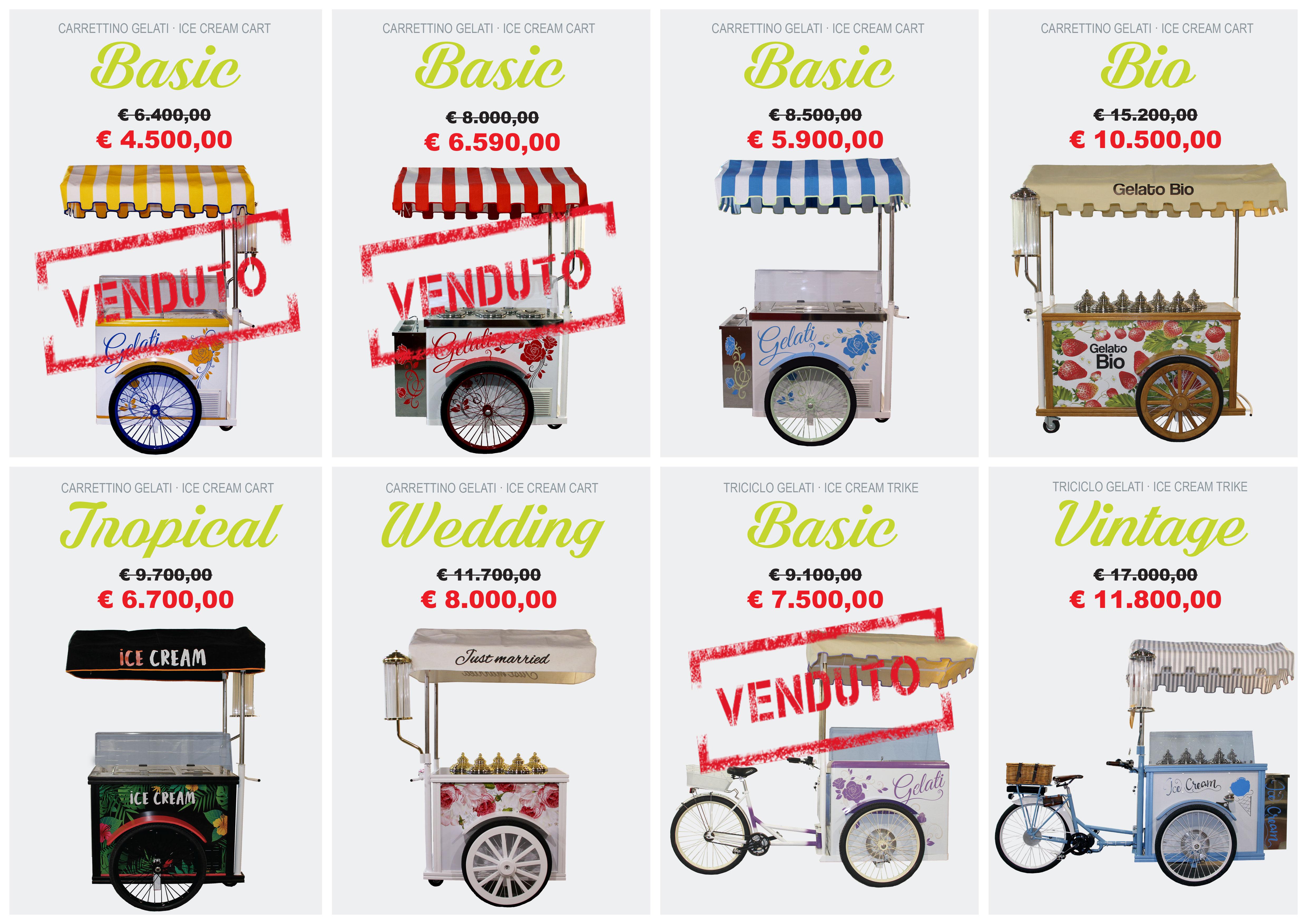 ultime occasioni vendita ambulante gelato
